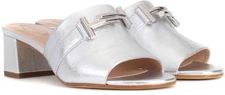 Tod's Double T leather sandals