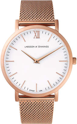 Larsson & Jennings LJ-W-CMROSE Lugano rose gold-plated stainless steel watch
