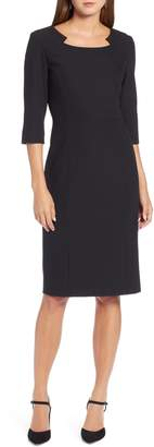 Halogen Textured Stretch Sheath Dress