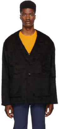 Our Legacy Black Mohair Cardigan