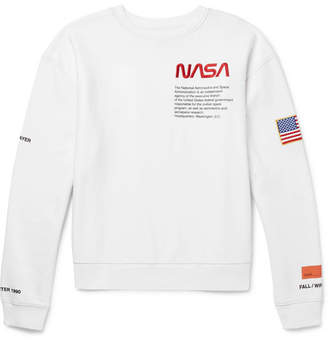 Heron Preston + Nasa Oversized Embroidered Cotton-Jersey Sweatshirt