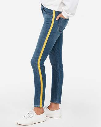 Express Mid Rise Side Stripe Stretch Ankle Leggings