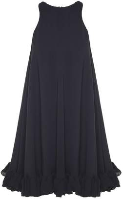 MSGM Flounced-hem Crepe Dress