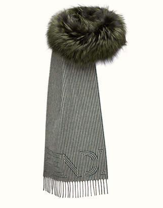 Fendi Touch Of Fur Scarf