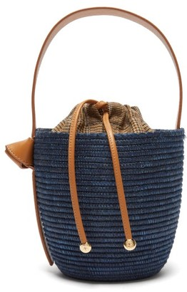 Cesta Collective - Contrast Panel Basket Bag - Womens - Navy Multi