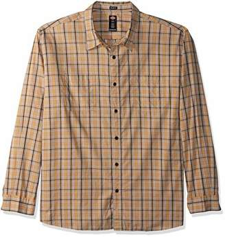 Dickies Men's Long Sleeve Relaxed fit Yarn dye Plaid Shirt Big-Tall