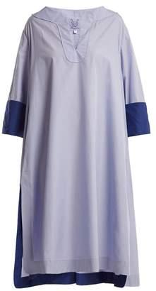 Thierry Colson Samia Cotton Poplin Cover Up - Womens - Light Blue