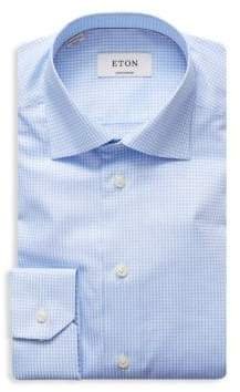Eton Contemporary Fit Gingham Dress Shirt