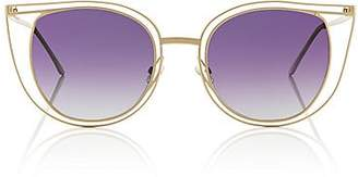 Thierry Lasry WOMEN'S EVENTUALLY SUNGLASSES - GOLD