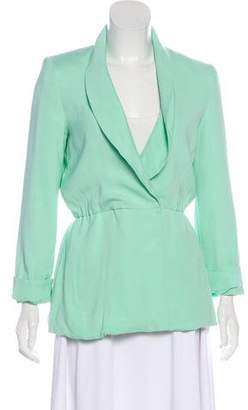 Alice + Olivia Shawl-Lapel Long Sleeve Blazer