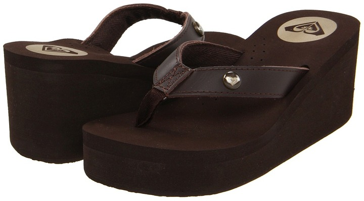 Roxy Pagoda Leather '12 (Brown) - Footwear