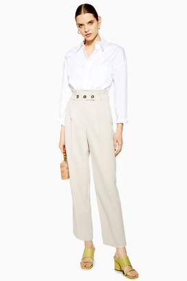 Topshop Paperbag Tapered Trousers