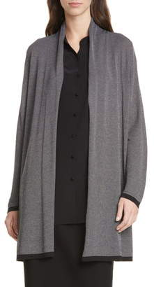 Eileen Fisher Shawl Collar Tencel® Lyocell Blend Long Cardigan