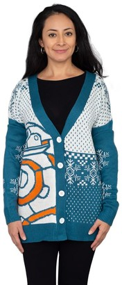 Junk Food Clothing Star Wars BB-8 Droid Ugly Christmas Cardigan Sweater