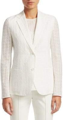 Akris Weave Buttoned Jacket