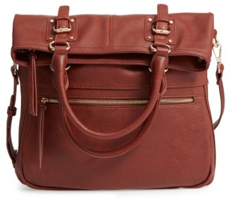 Sole Society Foldover Tote - Brown $59.95 thestylecure.com