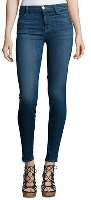 J Brand Maria High-Waist Skinny Jeans, Activate $218 thestylecure.com
