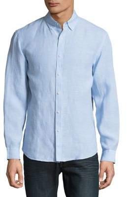Black & Brown Black Brown Linen Button-Down Shirt
