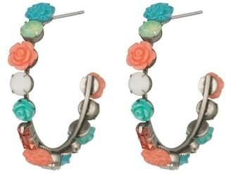 Dannijo Wonder Flower 50mm Open Hoop Earrings