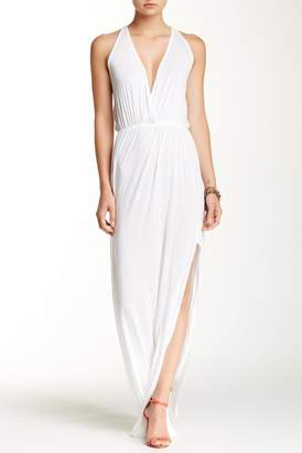 Couture Go Empire Waist Slit Maxi Dress