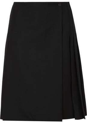 Burberry Pleated Wool Skirt - Black