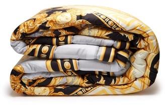 La Coupe Des Dieux Cotton Bedspread - Grey Gold