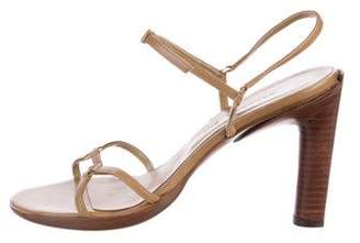Barbara Bui Leather Ankle Strap Sandals