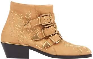 Chloé Susanna Beige Leather Boots
