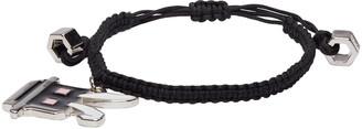 McQ Alexander Mcqueen Black Electro Bunny Bracelet $110 thestylecure.com