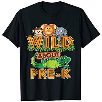 Wild About Pre-K Back to School Classroom T-Shirt