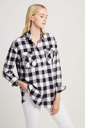 French Connenction Hadley Check Pop Over Shirt