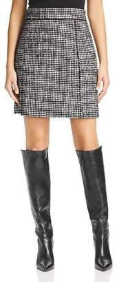 Marella Bice Houndstooth Tweed A-Line Skirt