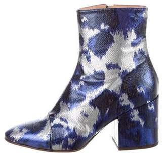 Dries Van Noten Metallic Ankle Boots w/ Tags