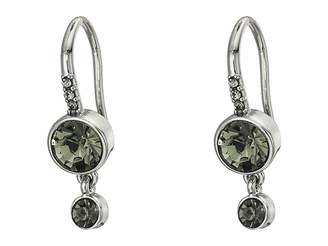 French Connection Double Drop Stone Earrings