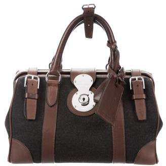 Ralph Lauren Leather-Trimmed Ricky Bag