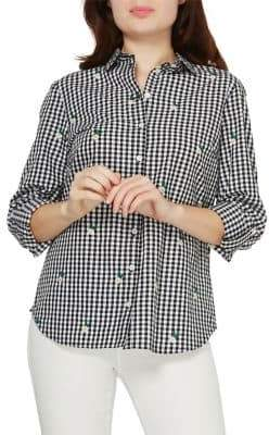 Dorothy Perkins Embroidered Gingham Shirt