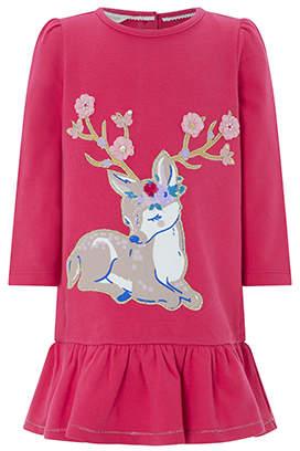 Monsoon Baby Darcy Deer Sweat Dress