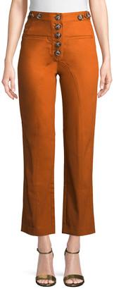 Self-Portrait Cropped High-Waist Trouser