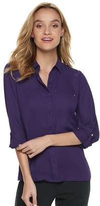 Apt. 9 Women's Convertible Button Tab Blouse