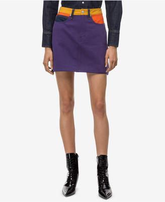 Calvin Klein Jeans Cotton Logo Mini Skirt