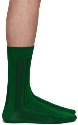 Issey Miyake Green Shima Socks