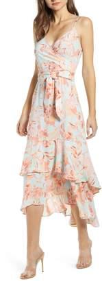 Leith Sleeveless Tiered Midi Dress