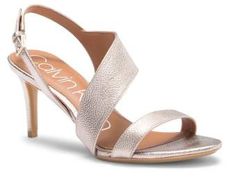 Calvin Klein Lancy Metallic Leather Sandal
