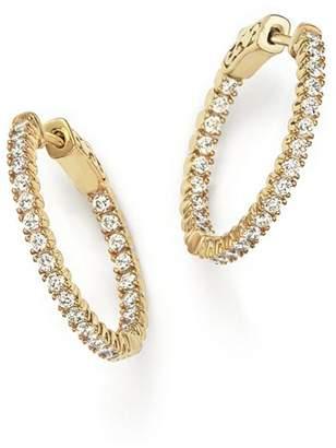 Bloomingdale's Diamond Inside Out Hoop Earrings in 14K Yellow Gold, 1.0 ct. t.w. - 100% Exclusive