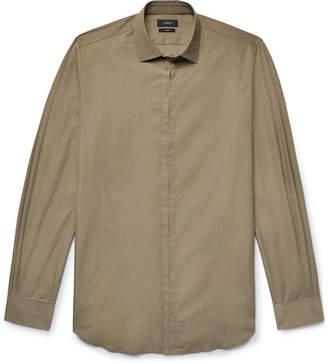 Joseph Jean Pierre Slim-Fit Cotton-Poplin Shirt - Sage green
