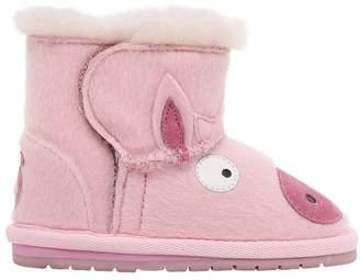 Emu Pig Ponyskin & Merino Wool Boots