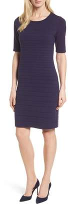 Anne Klein Textured Stripe Knit Dress