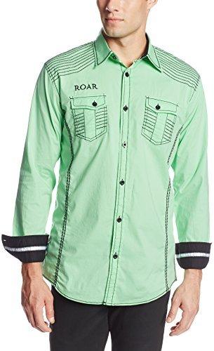 Roar Men's Sonar Neon Green Woven