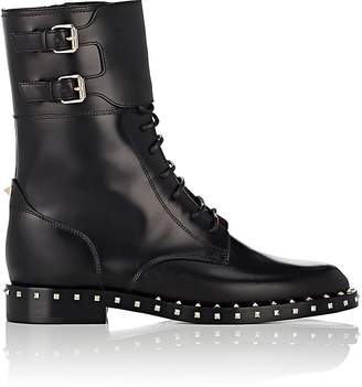 Valentino Women's Rockstud Leather Combat Boots