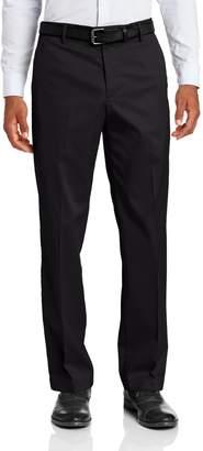 Dockers Iron Free Khaki D2 Straight Fit Flat Front Pant, Black Metal, 38x32